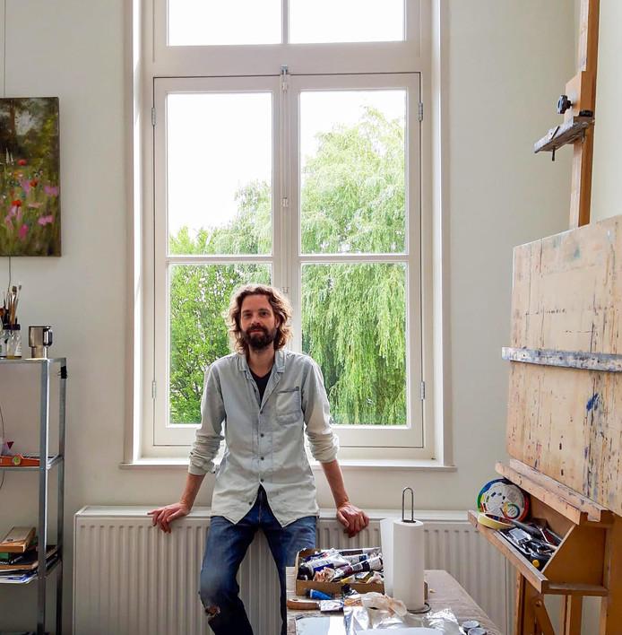 Kunstschilder Richard van Mensvoort.