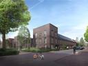 Een impressie van de bouwplannen van Burgland Real Estate op het Vogelzangterrein in Eindhoven aan de Albertina van Nassaustraat.