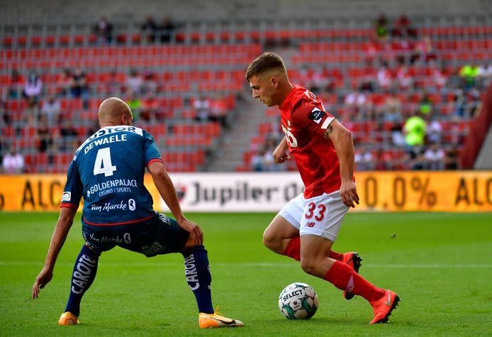 Damjan Pavlovic était titulaire pour la première fois avec l'équipe A du Standard et il s'en est plutôt bien sorti.