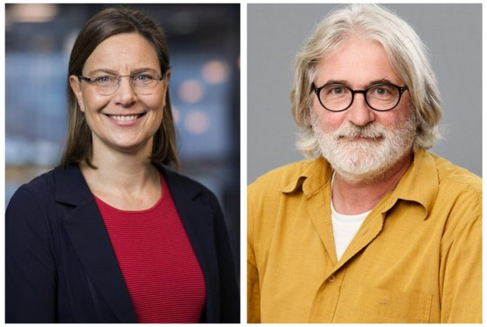 TU/e-hoogleraren Carlijn Bouten en Frans van de Vosse.