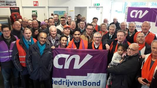 Stakende buschauffeurs in Breda.