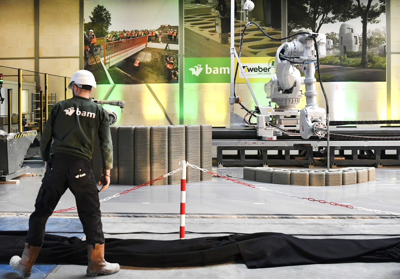 De productielocatie in Eindhoven voor 3D geprint beton.