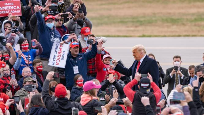 Week voor verkiezingen: Trump en Biden zetten hun eindspurt in