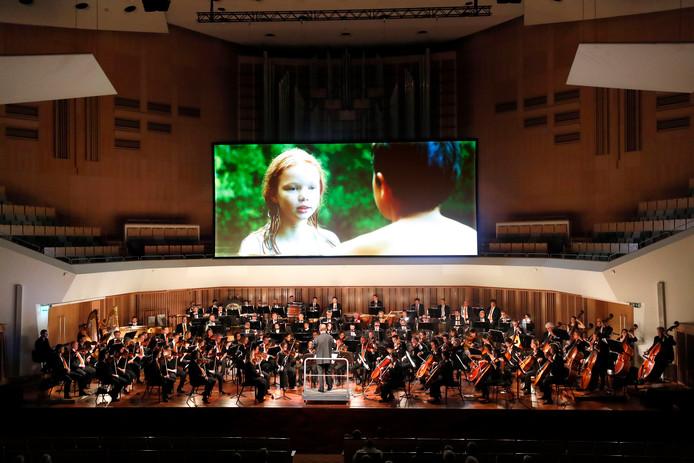 De film 'Daphnis et Chloé' werd dit weekeinde vertoond bij de compositie van Ravel.