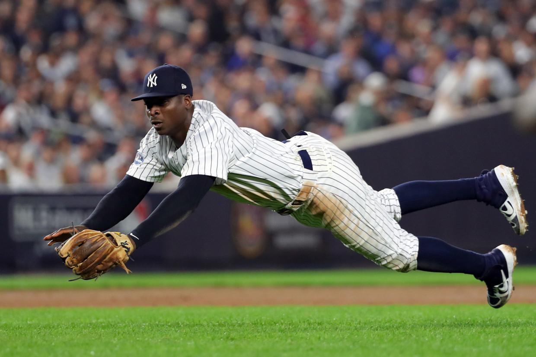 Didi Gregorius nog in actie voor New York Yankees. Beeld Getty Images