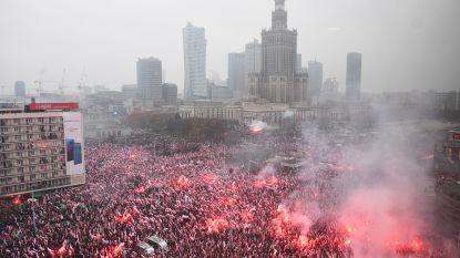 Polen viert onafhankelijkheid met omstreden mars: meer dan 200.000 deelnemers