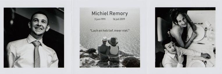 Rouwprent Michiel Remory