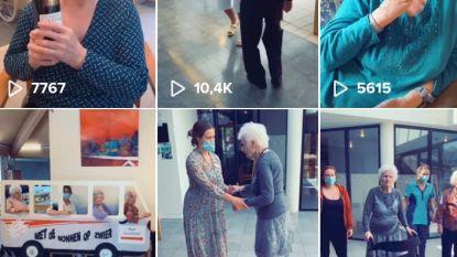 Tachtig en op TikTok: bewoners woonzorghuis Sint-Jozef Wommelgem geven beste van zichzelf op de populaire app
