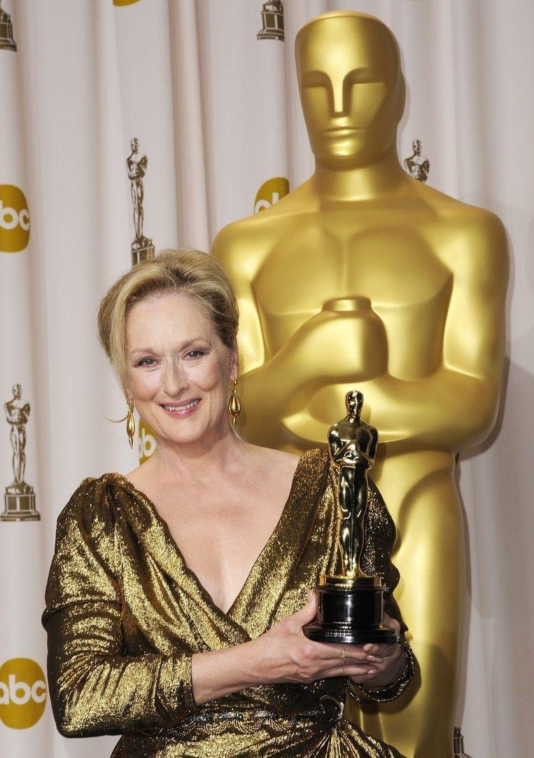 Twee jaar geleden won ze een oscar voor haar rol als Margaret Thatcher in 'The Iron Lady'. Beeld epa