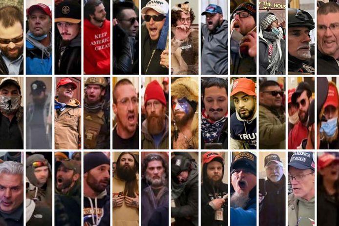 De Metropolitan Police van Washington DC zoekt 36 voortvluchtige Capitoolbestormers.