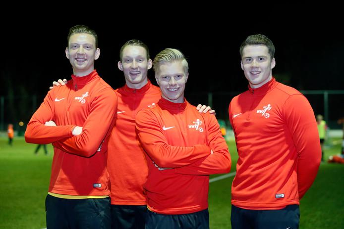 VVIJ-talenten: Lars Pels , Casper Baggem, Tom van der Horst, Jeffrey van der Werken