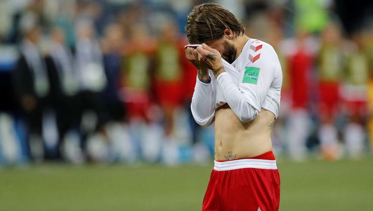 Lasse Schöne op het WK uitkomend voor Denemarken Beeld reuters