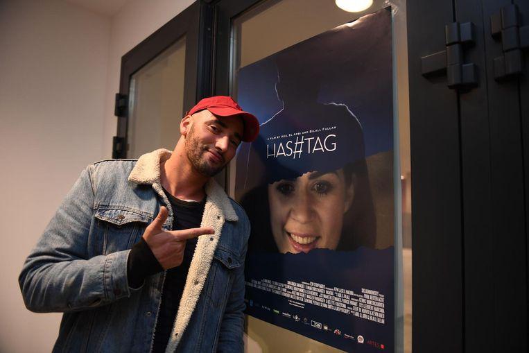 Bilall Fallah tijdens de première van 'Has#tag in Cinema ZED.