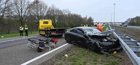 A58 van Breda naar Tilburg 'voorlopig' dicht na ongeluk met meerdere voertuigen bij Gilze