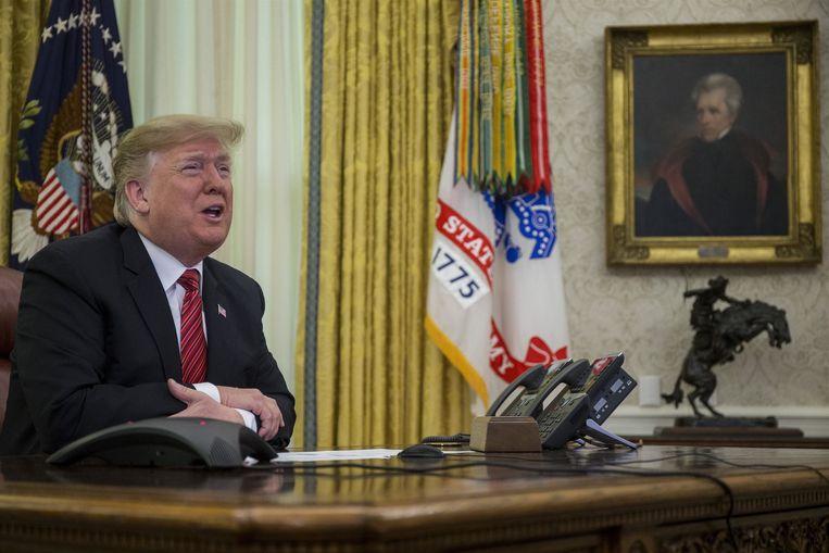 President Trump stapte gisteren kwaad op bij overleg met de Democraten, waardoor het einde van de shutdown nog niet meteen in zicht is.