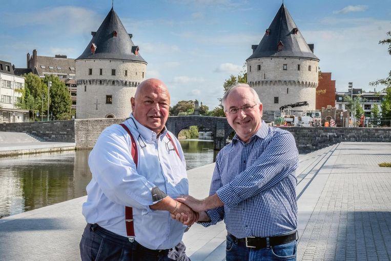Gewezen uitbater van café De Klokke, Frank Vierstraete (rechts) vervangt Philippe Lagae.