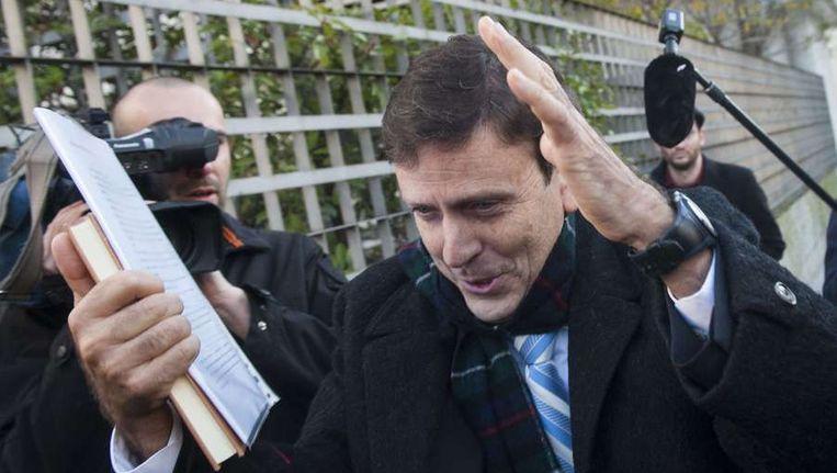Dokter Eufemiano Fuentes bij een rechtbank in Madrid, eind januari van dit jaar. Beeld afp
