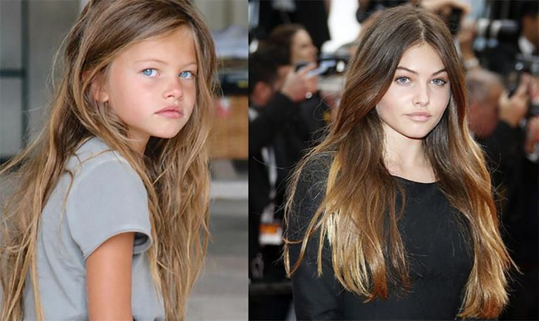 Het voormalige 'mooiste meisje ter wereld' Thylane Blondeau: links (6) en rechts (15).