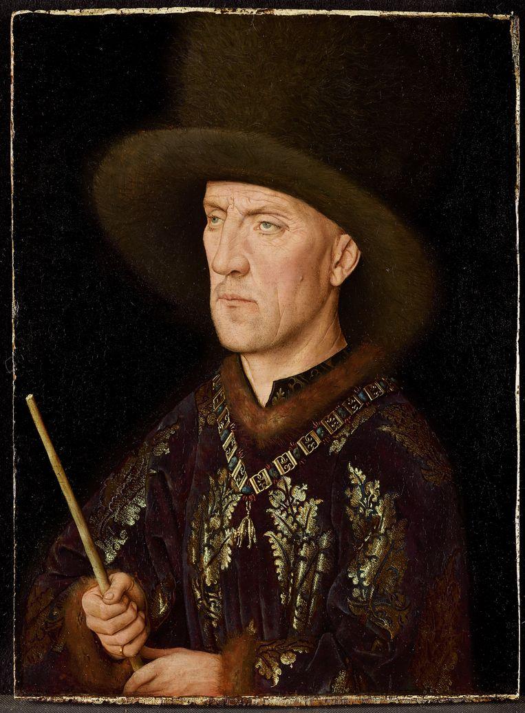 Van Eyck, een optische revolutie, Museum voor Schone Kunsten, Gent.  Jan van Eyck, Portret van Baudouin de Lannoy, ca. 1435. Beeld KIK-IRPA, Brussel