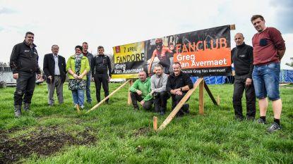 Fandorp voor Greg Van Avermaet tijdens passage Ronde van Vlaanderen