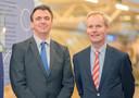 Frank Nijsen (wetenschappelijk directeur) en Jan Sigger (ceo) van Quirem Medical dat nu in Japanse handen is.