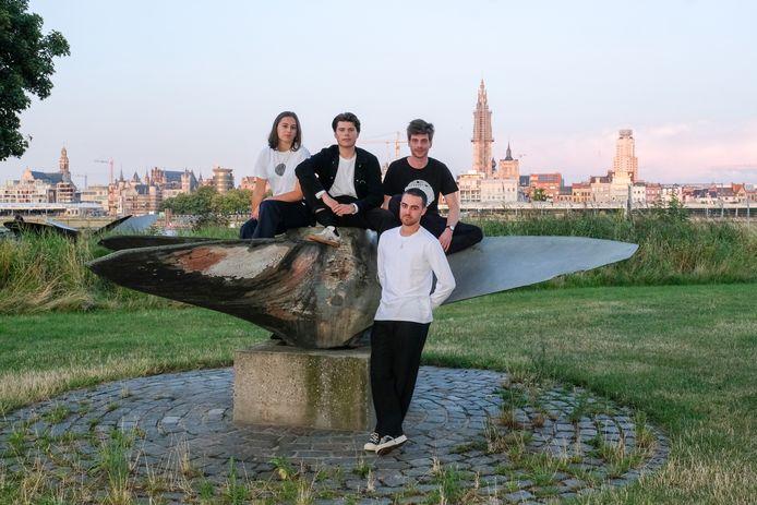 Emilia De La Paz, Aeson Löw, Jesse Löw en Timon Van Bortel van Soulful Sessions.