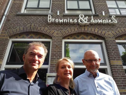 Drie van de initiatiefnemers van WoonDroom: Han Arts van der Zanden (links), Colette Evers en Gert Klein Kranenberg.