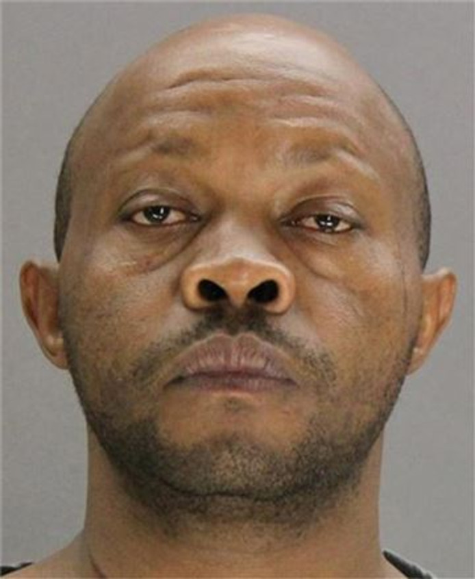 De verdachte na zijn arrestatie.