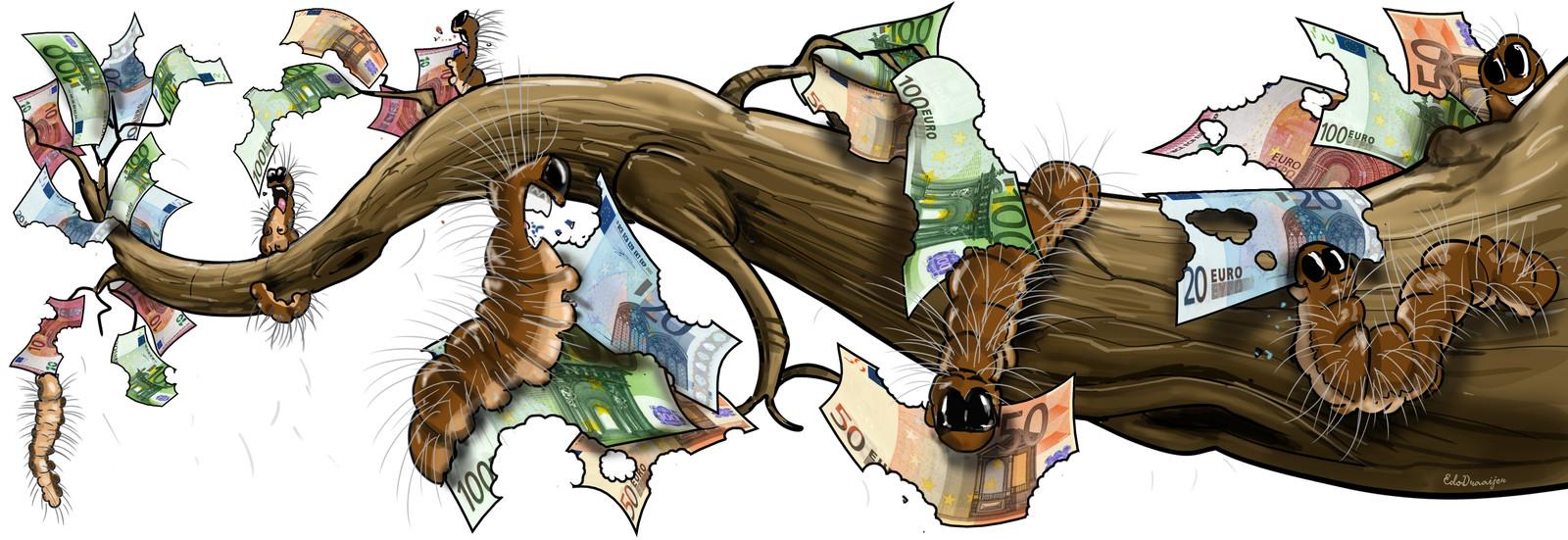 De bestrijding van de eikenprocessierups kost gemeenten een kapitaal.