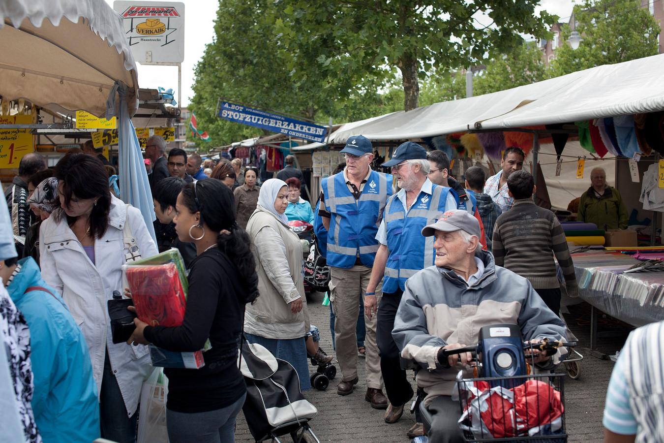 De Afrikaandermarkt in Rotterdam-Zuid.