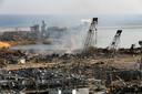 Beelden van de haven van Beiroet op de ochtend na de explosie.