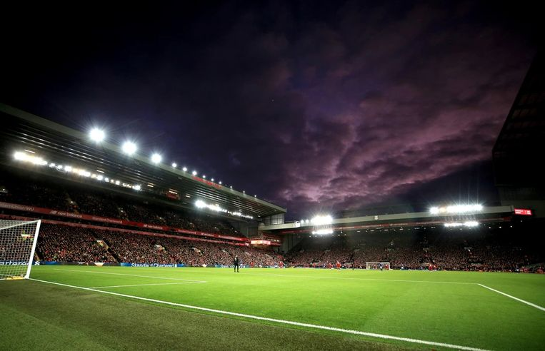 Anfield Road in Liverpool. Beeld BSR Agency