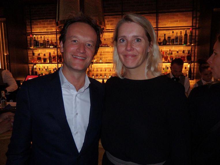 Upcycler Frank Houben (KLM) en dé modeadvocaat, Margot Span (Köster Advocaten) Beeld Schuim