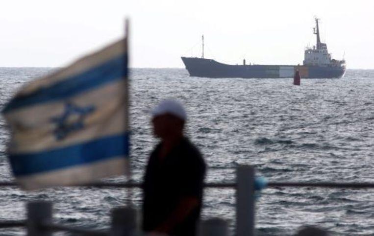 De Rachel Corrie wordt naar de haven van Ashdod gebracht. ANP Beeld