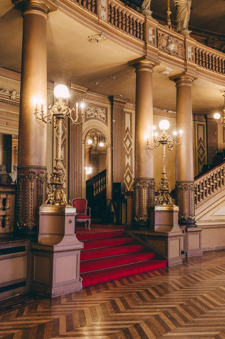De Foyer, één van de drie rijkversierde salons