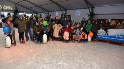 G-sporters leven zich uit op het ijs