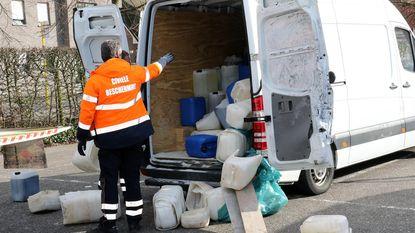 Bestelwagen vol drugsafval op Pelgrimsplein