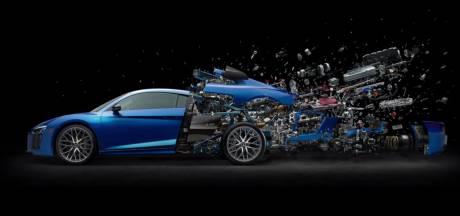 Audi viert tienjarig jubileum V10 met 'ontploffende' motor
