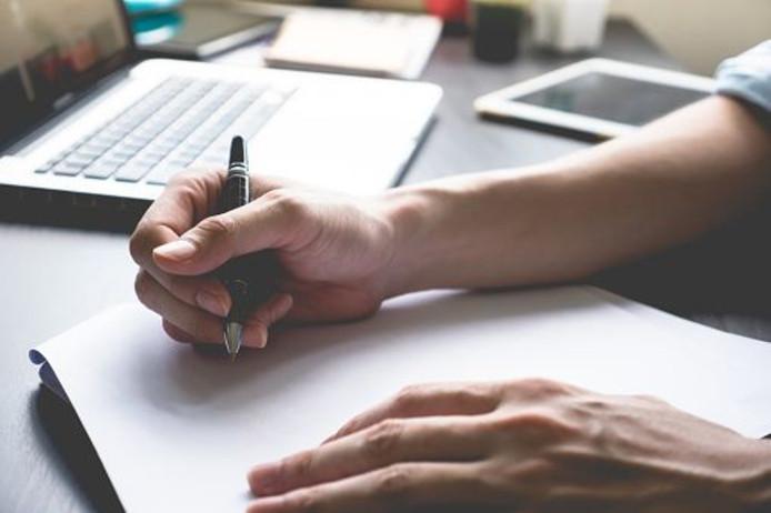 Schrijven (foto ter illustratie)