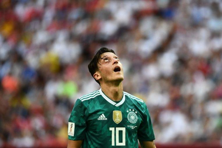 Mesut Özil tijdens het WK in Rusland Beeld null