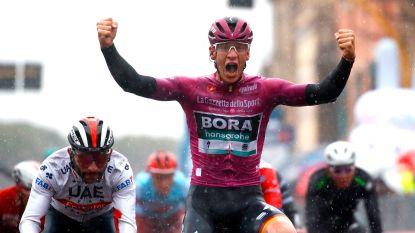 Ackermann pakt tweede ritzege in uitgeregende Giro-rit, Dumoulin geeft op