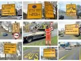 Dordrecht kleurt geel van de verkeersborden door de afsluiting van de Wantijbrug