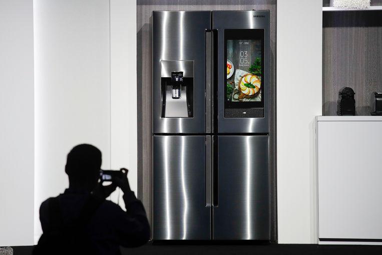 Een Samsung Family Hub slimme koelkast.