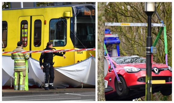De rode Renault Clio die de verdachte na de schietpartij wellicht carjackte, werd teruggevonden in de Tichelaarslaan, zo'n 4,5 kilometer van het 24 Oktoberplein, de plek waar de schutter toesloeg.