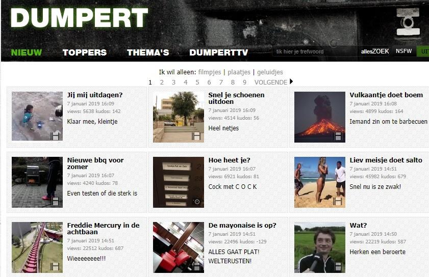 Screenshot Dumpert website