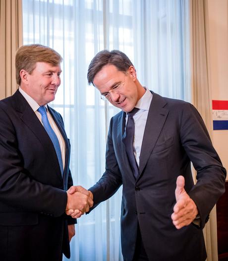 Kabinetsploeg Rutte III rond, op D66'ers na