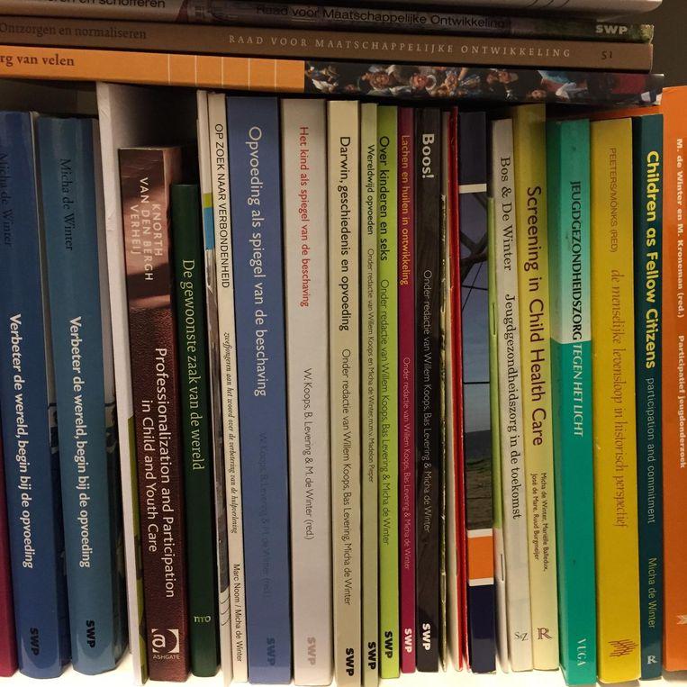 De boeken van Micha de Winter. Beeld null