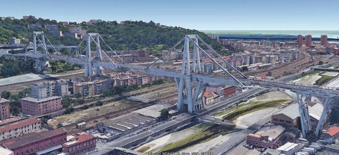 Een 3D-beeld van de brug.