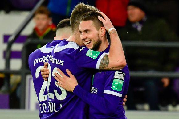 Pjaca in februari van dit jaar na zijn goal tegen Eupen.