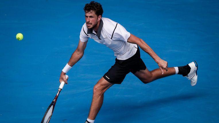Robin Haase in actie op Australian Open Beeld anp